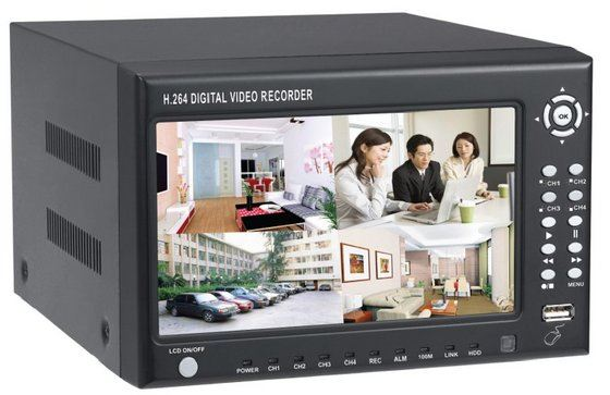 7_Inch_LCD_4CH_Wall_Mount_H_264_DVR_Linux_Support_SATA_HDD