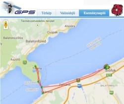 GPS nyomkövető - térképes nézet